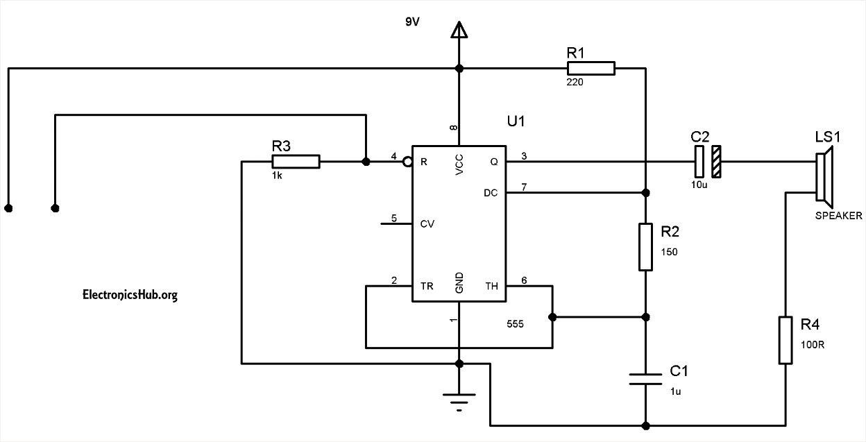 Water Level Alarm Using 555 Timer Circuit and Working