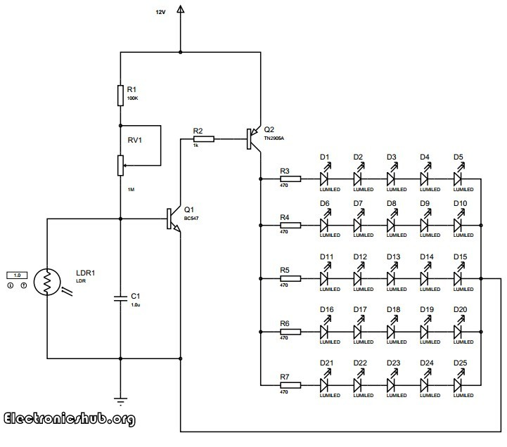led street light circuit diagram – the wiring diagram, Wiring diagram