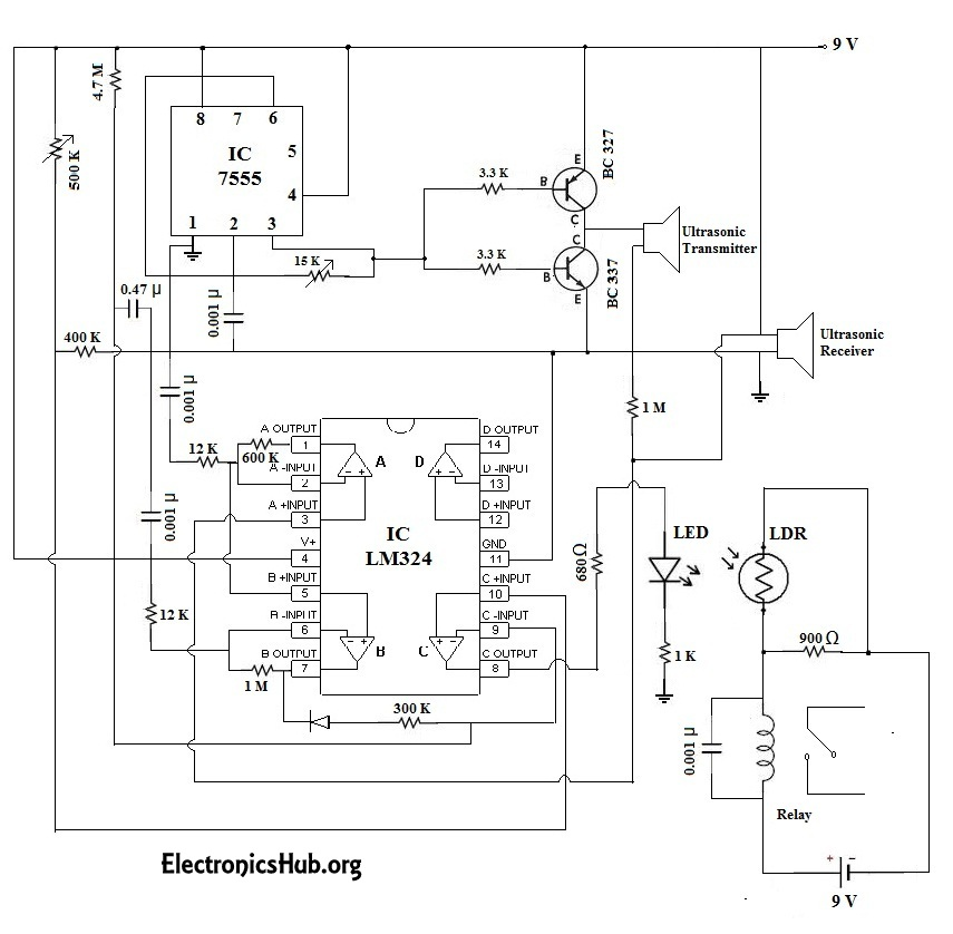 Automatic Door Bell With Object Detection Circuit