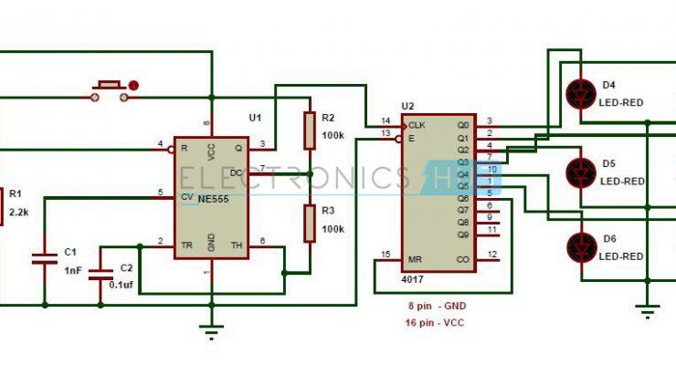 Unbiased Electronic Dice with LEDs