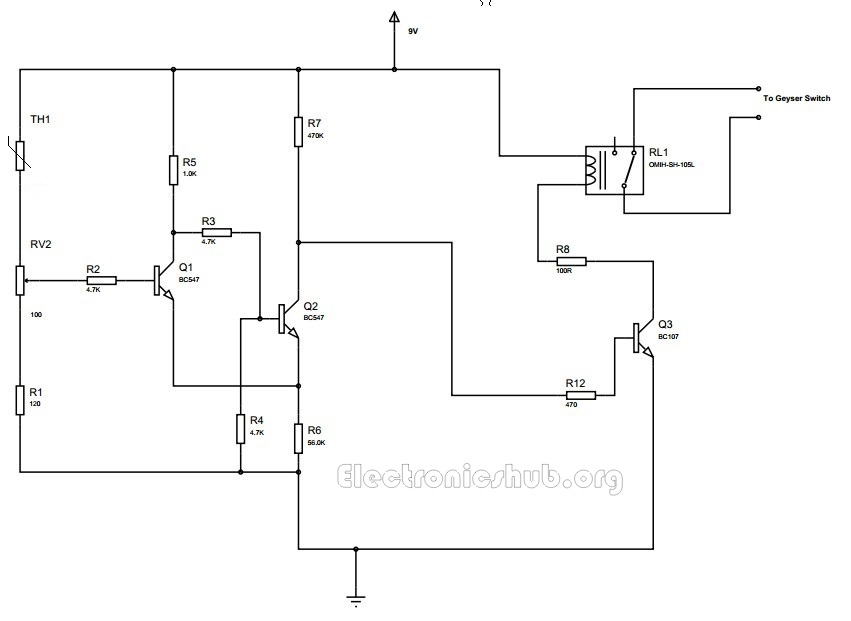 Hot Water Geyser Control Circuit Diagram