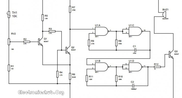 Thermistor Temperature Sensing Alarm