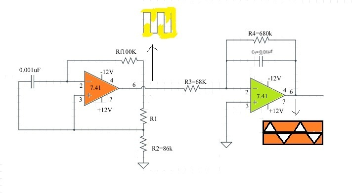 Function Generator Using Ic 741 Op Amp