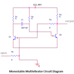 Monostable Multivibrator Circuit Operation