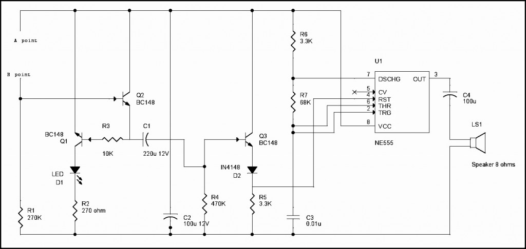 Rain Water Detector Circuit Diagram