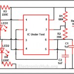 How 555 Timer IC Testing Circuit Works?