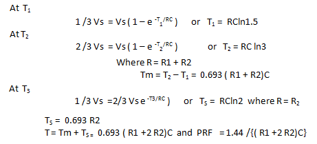 Mathematical Calculation of Tm, Ts and PRF