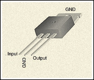 Pin diagram of IC 7805