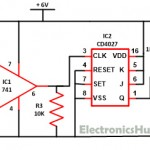 Wireless Switch Circuit using CD4027