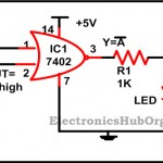 Construction of Basic Logic Gates using NOR Gate