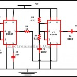 Police Siren using NE555 Timer Circuit Diagram