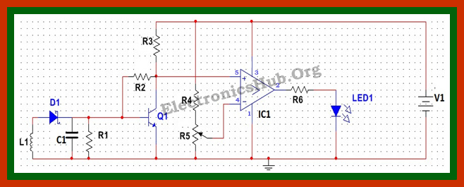 Cell Phone Phone Detector Circuit Diagram