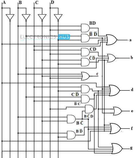 7 segment decoder logic diagram 7 segment decoder circuit diagram bcd to 7 segment led display decoder circuit diagram and ...
