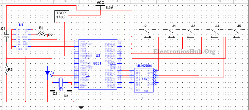 Are There 4 Position Switches That Control Power To A Circuit And Provide State as well Regenerative Braking Circuit additionally J4 Cables Connectors together with Interfacing Adc0808 With 8051 Microcontroller likewise Smart Smoke Sensor Alarm. on encoder circuit diagram