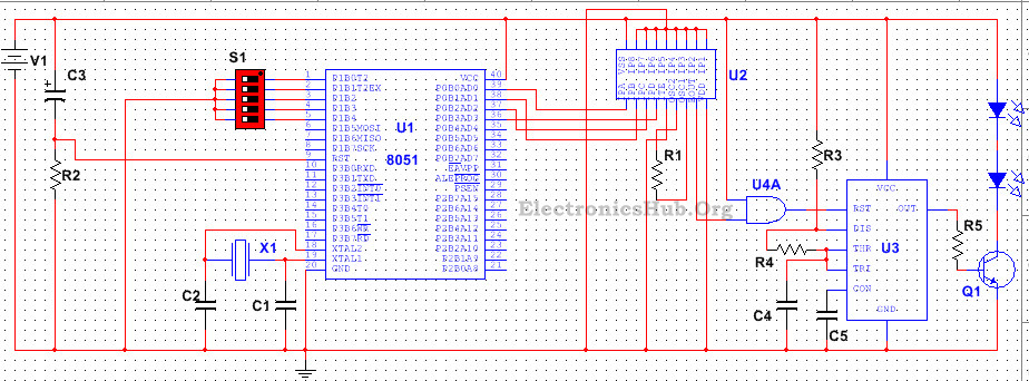 5 Channel Remote Control - Transmitter Circuit
