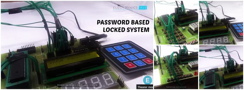Home security system using microcontroller project