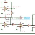Active Audio Crossover Circuit