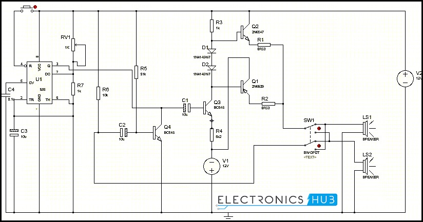 wiring schematic for a timer circuit knight rider circuit