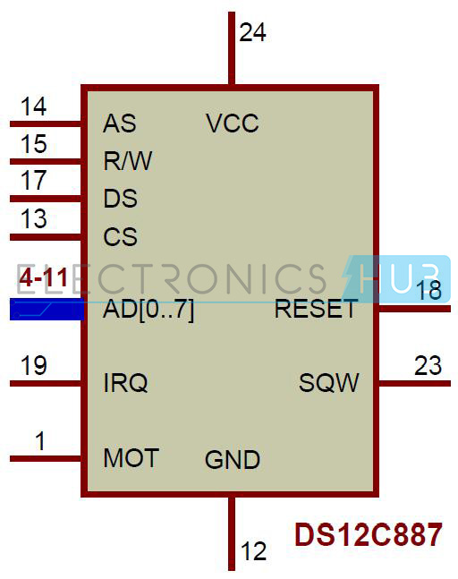 my world my rules digital clock circuit using 8051 and ds12c887ds12c887 ic