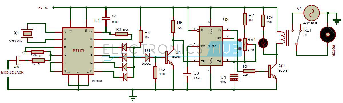 DTMF Controlled Home Appliances without Microcontroller