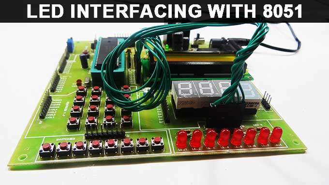 LED Interfacing with 8051