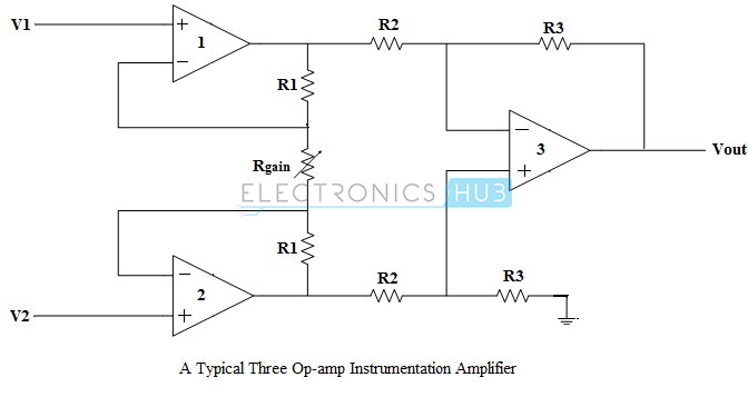 1. Instrumentation Amp Circuit