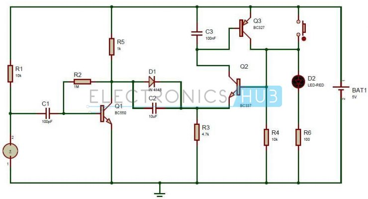 Puff to OFF LED Circuit