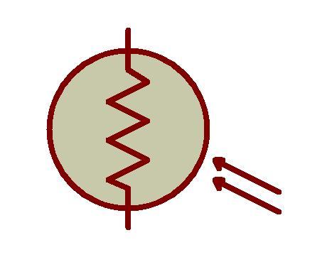Fig : Símbolo de LDR