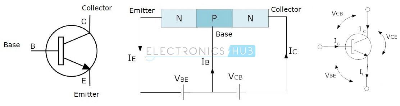 2. NPN transistor symbols