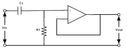 Fig: Active High Pass Filter Circuit