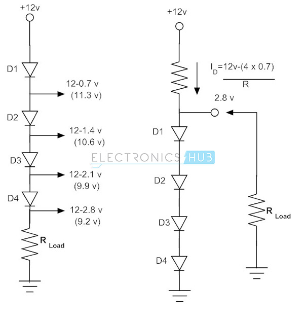3.signal diode in series