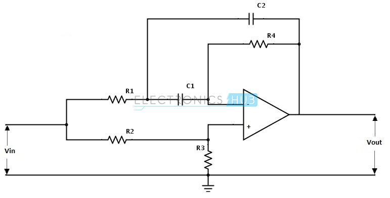 band stop filter circuit design and applications, Wiring circuit