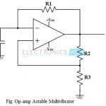 Astable Multivibrator Using Op-Amp