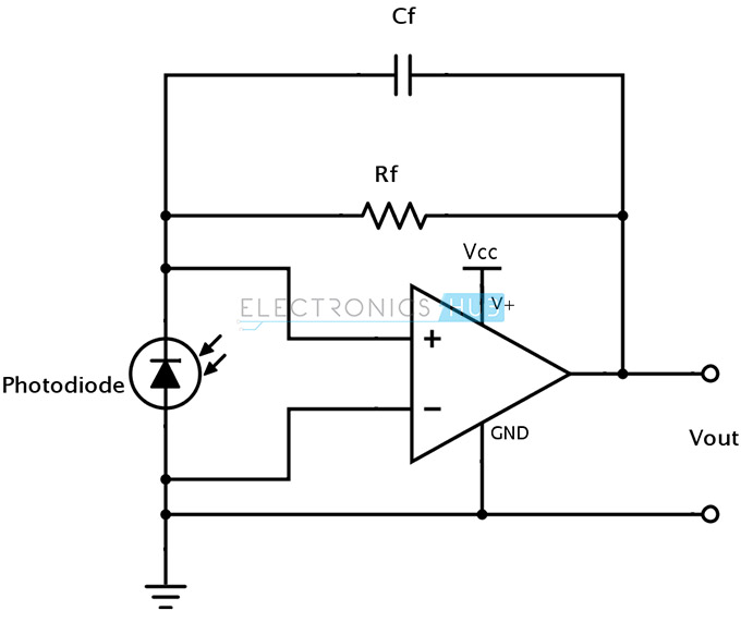 Current to voltage using Photodiode
