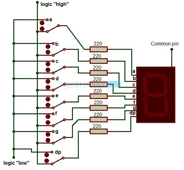 Driving Seven Segment with a Resistor