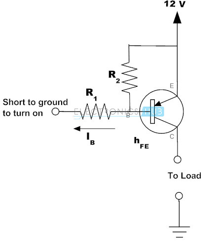Example of PNP Transistor