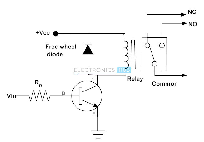 Transistor to Operate the Relay