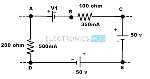 Example of kirchoffs voltage law