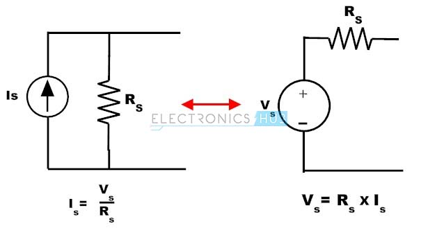Convertion of Current Source to Voltage Source