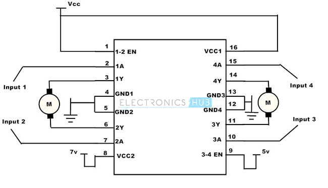 L293D IC Schematic