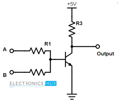 universal gatesnor gate, circuit diagram