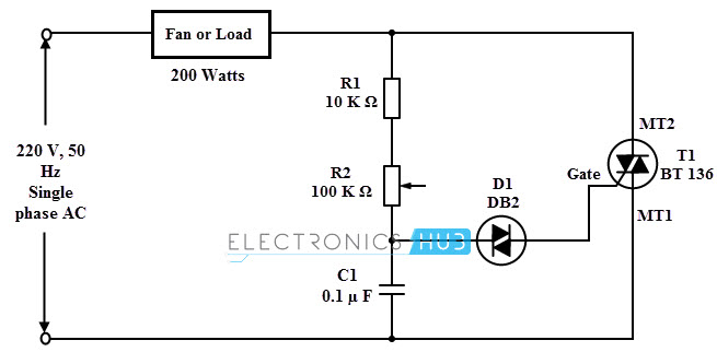 Wiring Diagram Of Ceiling Fan With Regulator : Simple fan regulator circuit