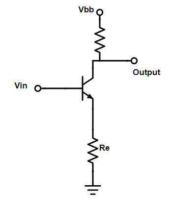 Feedback in common emitter circuit