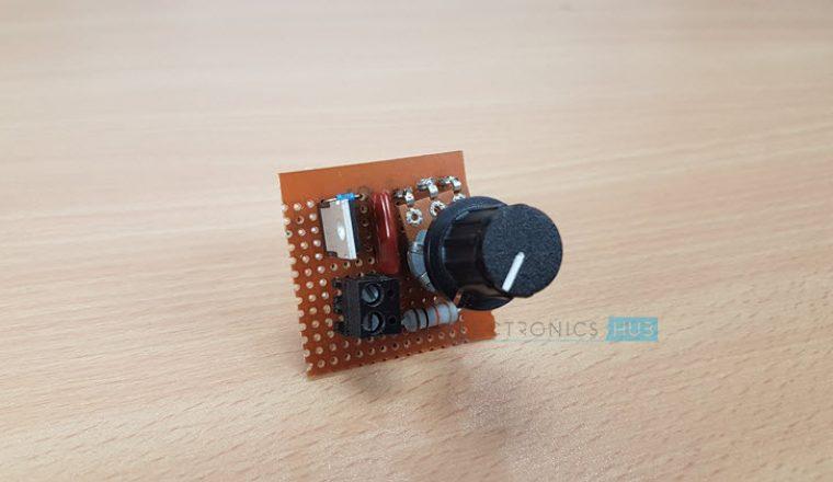 Simple Fan Regulator Circuit Using Triac And Diac