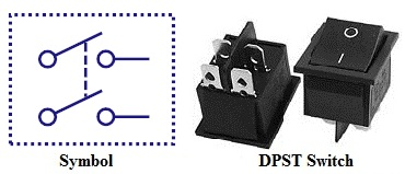 types of switches double pole single throw switch dpst