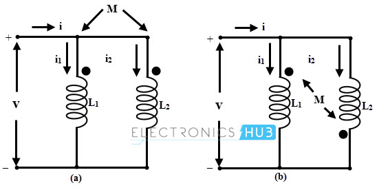 Inductor in parallel with aiding and opposing