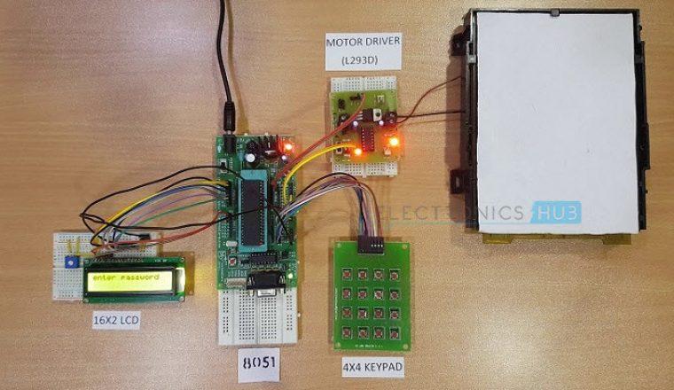 Password Based Door Lock System Using 8051 Microcontroller