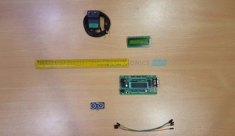 Ultrasonic Rangefinder using 8051 Image 1