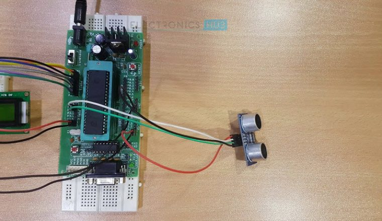 Ultrasonic Rangefinder using 8051 Image 3