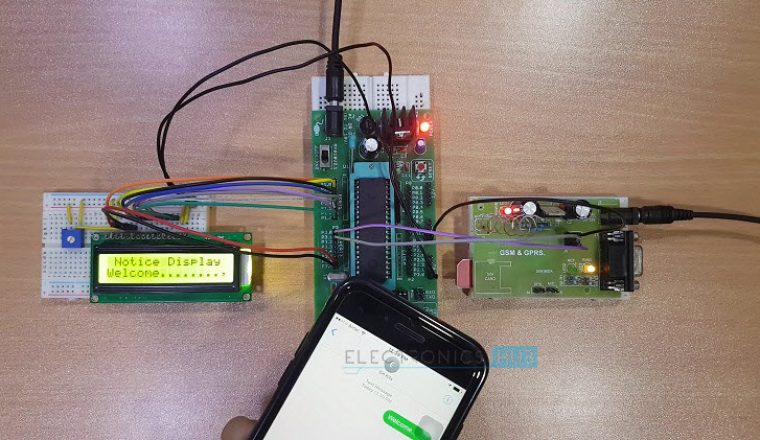 Wireless Electronic Notice Board using GSM Image 5